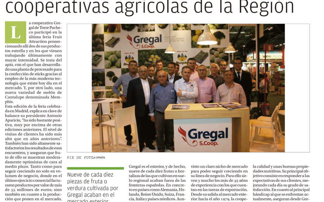 The company attends Fruit Attraction from the first edition, in 2009 The firm meet next year its 40 anniversary in the regional industry